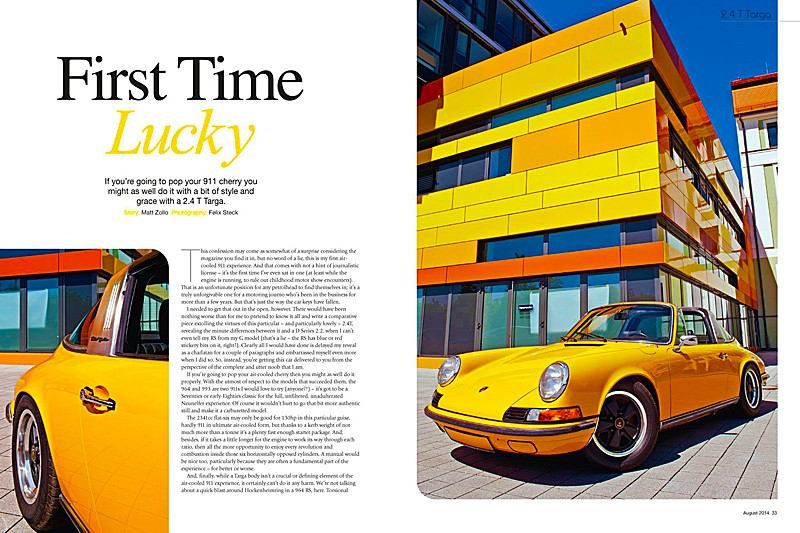 (c) fsp -  felix steck photographer; Porsche GT Magazin August 2014